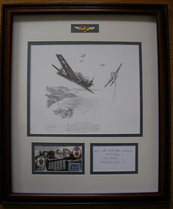 Picture of David McCampbell US Navy Original Drawing SOLD