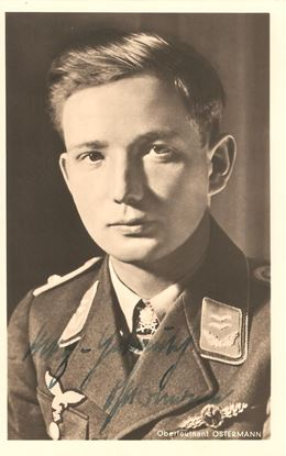 Picture of Max Hellmuth Ostermann Wartime Signed Hoffmann Card