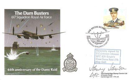Picture of E.C Johnny Johnson 617 Squadron Dambusters Signed FDC