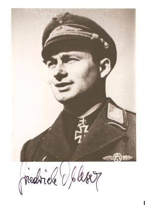 Picture of Oberleutnant Friedrich Obleser JG52 Signed Photo SOLD