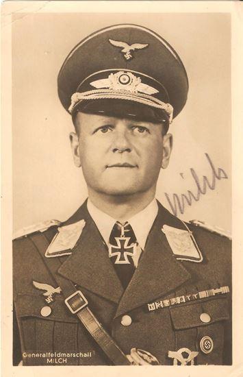 Picture of Generalfeldmarschall Erhard Milch Wartime Signed Hoffmann Postcard