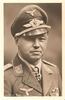 Picture of Hans 'Assi' Hahn Luftwaffe Wartime Signed Hoffmann Card