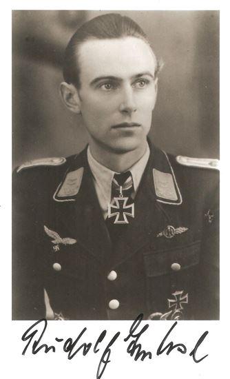 Picture of Rudolf Trenkel JG52 Luftwaffe Signed Photo SOLD
