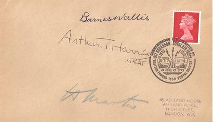 Picture of Barnes Wallis Arthur Harris Mick Martin Dambusters Signed Piece
