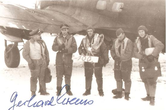 Picture of Luftwaffe Gerhard KREMS Knights Cross Signed photo