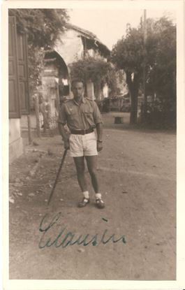 Picture of Major Erwin Clausen - Wartime Signed Private Photo