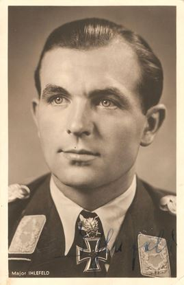 Picture of Herbert Ihlefeld Wartime Signed Hoffmann Card