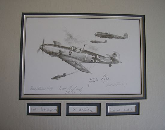 Picture of Steinhoff in the Battle of Britain Original Drawing Trudgian