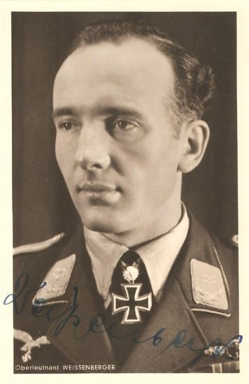 Picture of Theodore Weissenberger - Wartime Signed Hoffmann Card SOLD