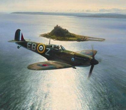 Picture of Spitfires Over St Michaels Mount by Robert Taylor SOLD