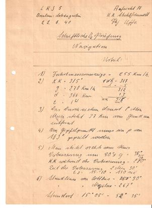 Picture of Hans-Arnold 'Fiffi' Stahlschmidt JG27 - Wartime Navigation document