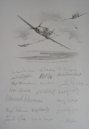 Picture of JG2 'Richthofen' in the Battle of Britain - Original Pencil Drawing by Nicolas Trudgian