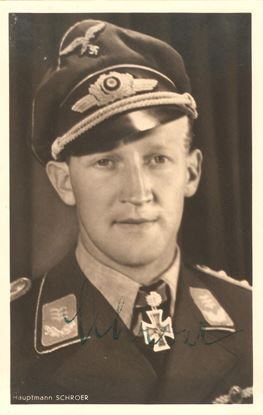 Picture of Werner Schroer Wartime Signed Hoffmann Card