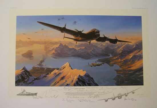 Picture of Sinking The Tirpitz - Multi-Signed Remarque SOLD