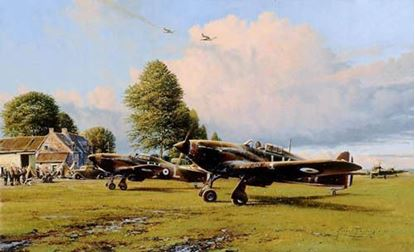 Picture of Front Line Hurricanes by Robert Taylor SOLD