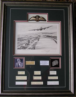 Picture of The Dambusters - Original Pencil Drawing - 9 Signatures by Robert Taylor SOLD