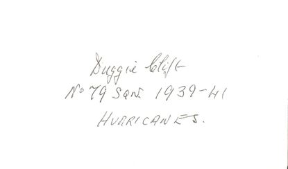 Picture of Duggie CLIFT Battle of Britain Signed Card