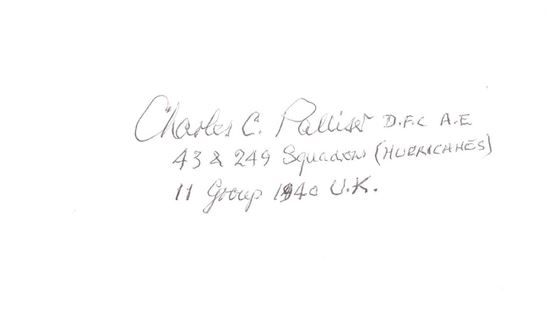 Picture of Charles PALLISER 43 & 249 Squadrons Battle of Britain Signed Card