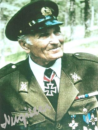Picture of Harald NUGISEKS - Waffen SS Knights Cross Signed Photo SOLD