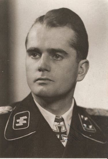 Picture of Paul-Albert KAUSCH SS-Stubaf Knights Cross - Waffen SS SOLD