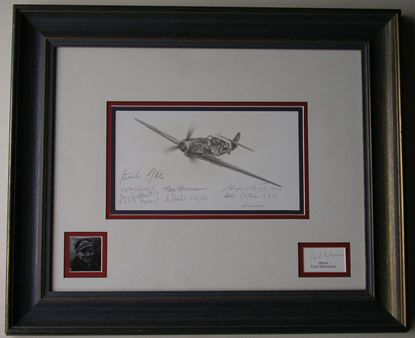 Picture of Hartmann Me109G Original Drawing by Nicolas Trudgian SOLD
