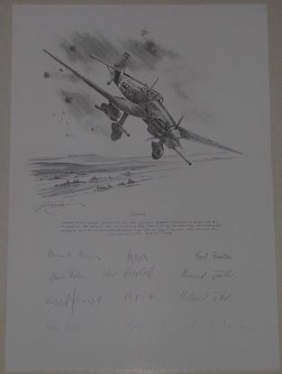 Picture of STUKA - Ju87G of Hans Ulrich Rudel - Original Pencil Drawing by Nicolas Trudgian SOLD
