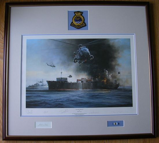 Picture of Sea King Rescue by Robert Taylor - RARE Edition Signed by HRH Prince Andrew