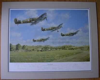 Picture of INSPIRATION by John Young - 60th Anniversary of Douglas Bader's Last sortie SOLD