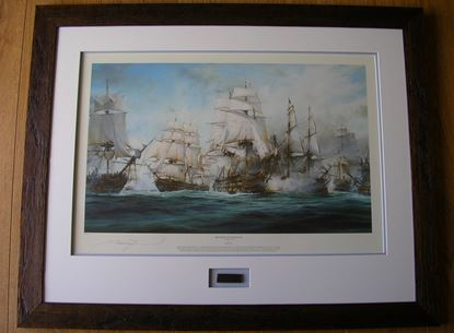 Picture of THE BATTLE OF TRAFALGAR By Robert Taylor