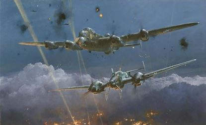 Picture of Lancaster Under Attack & Air Combat Paintings Volume 4 by Robert Taylor SOLD