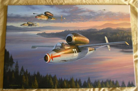 Picture of Jet Interceptors - Original Oil on Canvas by Nicolas Trudgian