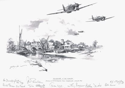 Picture of Guardians of the Medway - Original Pencil Drawing by Nicolas Trudgian SOLD