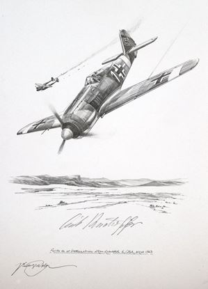 Picture of The Fw190 of Erich Rudorffer - Original Pencil Drawing by Nicolas Trudgian