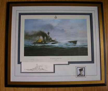 Picture of The Last Moments of HMS Hood - Robert Taylor REMARQUE SOLD