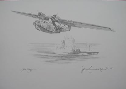 Picture of Catalina of John Cruickshank VC - Original Pencil Drawing by Nicolas Trudgian