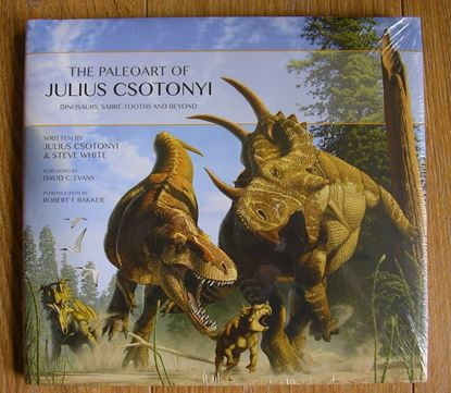 Picture of THE PALEOART OF JULIUS CSOTONYI - DINOSAURS, SABRE-TOOTHS AND BEYOND HARDBACK BOOK by Julius Csotonyi and Steve White