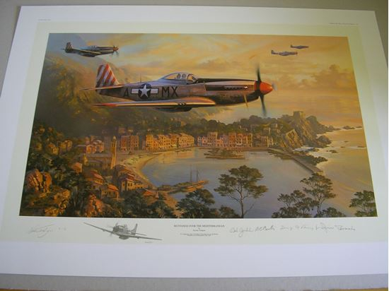 Picture of MUSTANGS OVER THE MEDITERRANEAN - REMARQUE by Nicolas Trudgian SOLD