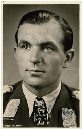 Picture of Herbert IHLEFELD - Wartime Signed Hoffmann Card