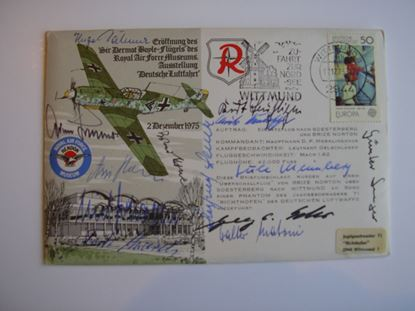 Picture of FDC Rossbach Signed Adolf Galland and Twelve JG2 'Richthofen' Aces