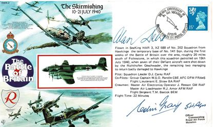 Picture of FDC  50th Anniversary Battle of Britain Signed Al DEERE & Colin GRAY 54 Squadron SOLD