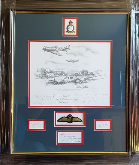 Picture of A Tribute to 501 Squadron in the Battle of Britain - Original Drawing Piece by Nicolas Trudgian SOLD
