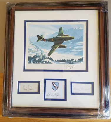 Picture of The First Of The Jets Original Gouache by Nicolas Trudgian Signed 4 Me262
