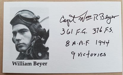 Picture of William BEYER US Ace 361st FG Signed Card