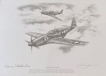 Picture of THE DEBDEN EAGLES - Original Pencil Drawing by Nicolas Trudgian - Signed Don Blakeslee