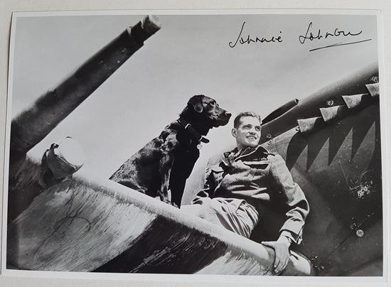 Picture of Johnnie JOHNSON - Top RAF Ace - Signed Photo