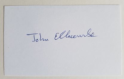 Picture of JOHN ELLACOMBE - Air Commodore RAF - Signed Card